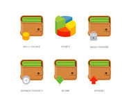 Wallet Icons Stock Images