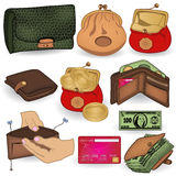 Wallet icons Stock Image