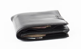 Wallet. Image of wallet with money isolated close up Royalty Free Stock Photo