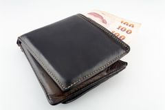 Wallet isolated white background Stock Photos