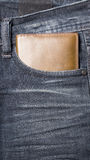 Wallet in jean pants Royalty Free Stock Photography