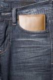 Wallet in jean pants Stock Image