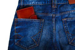 Wallet in jeans Royalty Free Stock Image