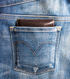 Wallet and  jeans Royalty Free Stock Photography