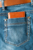 Wallet in jeans pocket Royalty Free Stock Photo