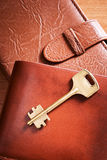 Wallet with key Stock Image