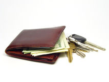 Wallet and keys Royalty Free Stock Photography