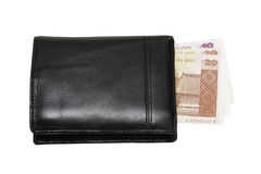 Wallet with lats Stock Photography
