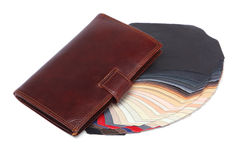 Wallet and leather Royalty Free Stock Photo