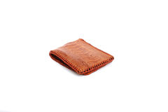 Wallet of leather Ostrich skin Royalty Free Stock Photos