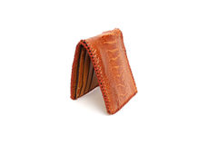 Wallet of leather Ostrich skin Royalty Free Stock Photography