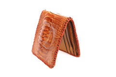 Wallet of leather Ostrich skin Stock Photo