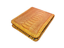 Wallet of leather Ostrich skin Stock Image