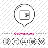 Wallet line icon. Payment symbol. Esp10 Vector Stock Photos