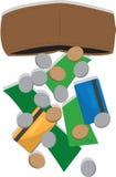 Wallet Losing Money Stock Image