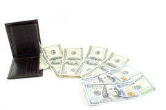 Wallet losing money Royalty Free Stock Images