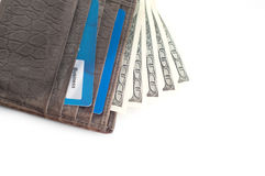 Wallet with a lot of money Stock Photography