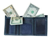 Wallet with Lots of Money Stock Photos