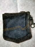 Wallet made from an old jean pocket Royalty Free Stock Image