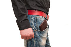 Wallet in male hands Stock Image