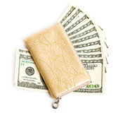 Wallet with many dollars Royalty Free Stock Image