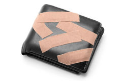 Wallet with Medical Plaster Royalty Free Stock Images