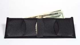 Wallet with Money. Leather wallet with money in it Royalty Free Stock Photo