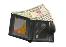 Wallet with money Royalty Free Stock Photo