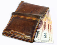 Wallet with money Royalty Free Stock Photos