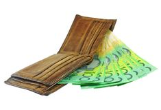 Wallet with money Royalty Free Stock Image