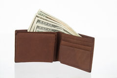Wallet with Money. A Wallet with American dollars Stock Photos