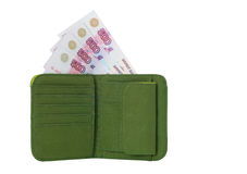 Wallet with Money. Wallet with banknotes isolated on a white Stock Photos