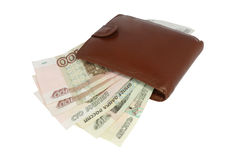 Wallet with money Stock Photos
