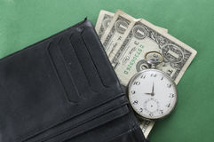 Wallet with money Stock Images