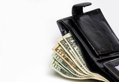 Wallet with money Royalty Free Stock Photography