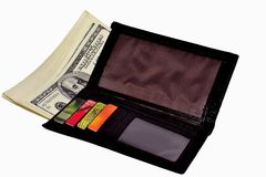 Wallet with money and credit cards Stock Photo