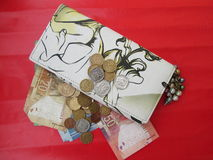 Wallet With Money. Royalty Free Stock Photo