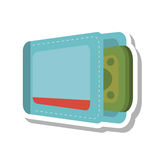 Wallet with money isolate icon Royalty Free Stock Images