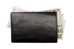 Wallet with money isolated Royalty Free Stock Photo