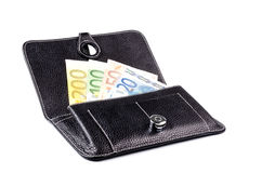 Wallet with money isolated Stock Images