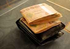 Wallet And money Thailand Royalty Free Stock Photos