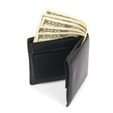 Wallet and money Stock Photo