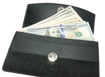 Wallet and money Royalty Free Stock Images