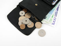 Wallet with Norwegian money Stock Images