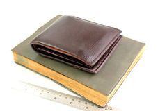 Wallet with Notebook Stock Image