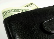 Wallet with one hundred Stock Photo