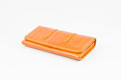 Wallet orange Stock Photo