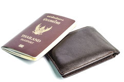 Wallet with passport Royalty Free Stock Photos