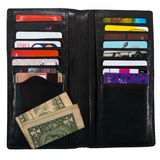 Wallet with plastic cards. On a white background Royalty Free Stock Photos