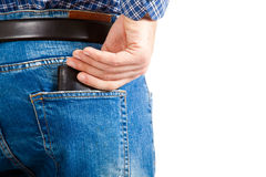 Wallet in the pocket Stock Photography